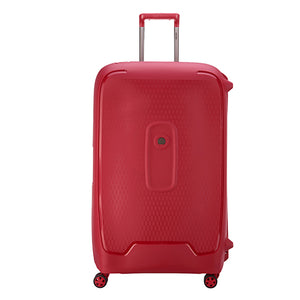 Delsey Moncey Red Extra Large (82cm) 4 Wheel Suitcase