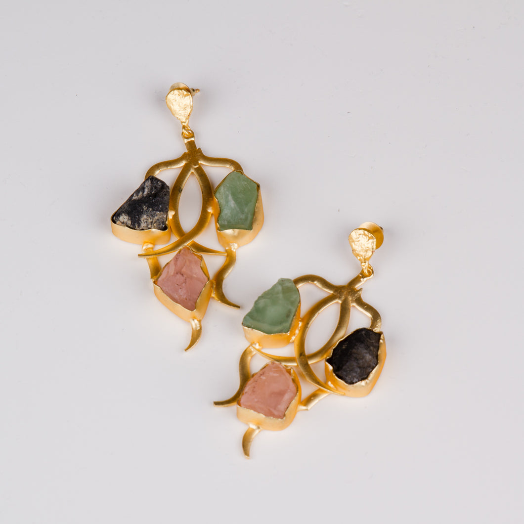 Dimple Ramaiya Safia Earrings || Semi Precious Collection