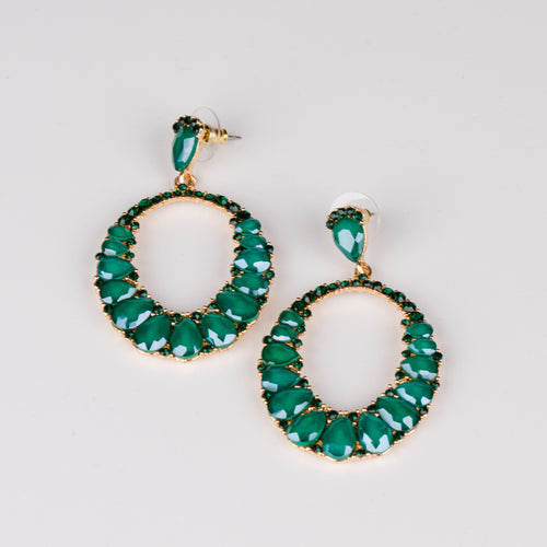 Dimple Ramaiya Jewellery Lyra Earrings (Green) || Holiday Collection