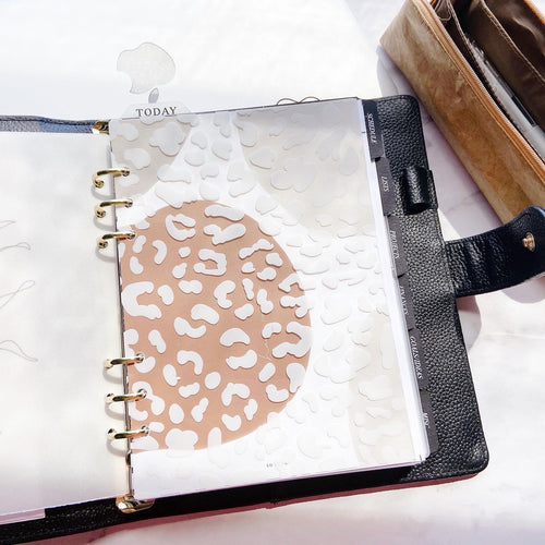 A21 - White Print Acetate Sheet/Dashboard - Leopard pattern