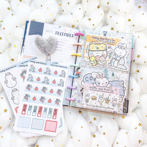 JD41 - Mini Happy Planner - Clear Star Jelly dashboards with two scalloped pockets