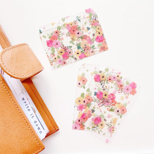 Floral Mini Tab Cards Set -  three cards