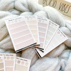 Transparent Vellum Sticker Sets