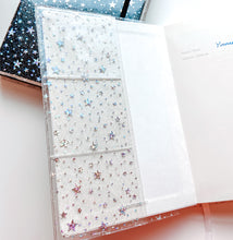 Load image into Gallery viewer, JD22 - Star Glitter Cover for Leuchtturm1917 A5 notebooks