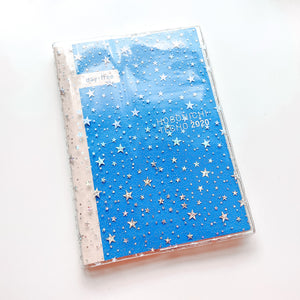 JD33 - Hobonichi Cousin (A5) - Clear Star Glitter Cover