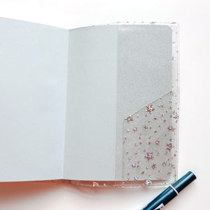 JD03 Star Glitter Cover for A6 Hobonichi/A6 Stalogy