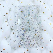 Load image into Gallery viewer, JD48 - Mini Happy Planner - Clear Star Jelly dashboards w/out back pocket
