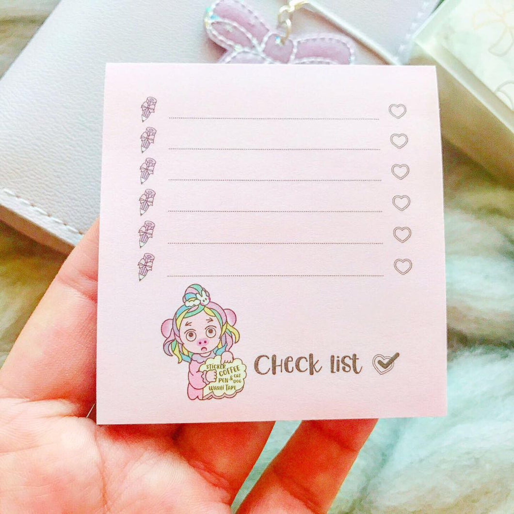 SN02 - Miya Checklist Sticky Note