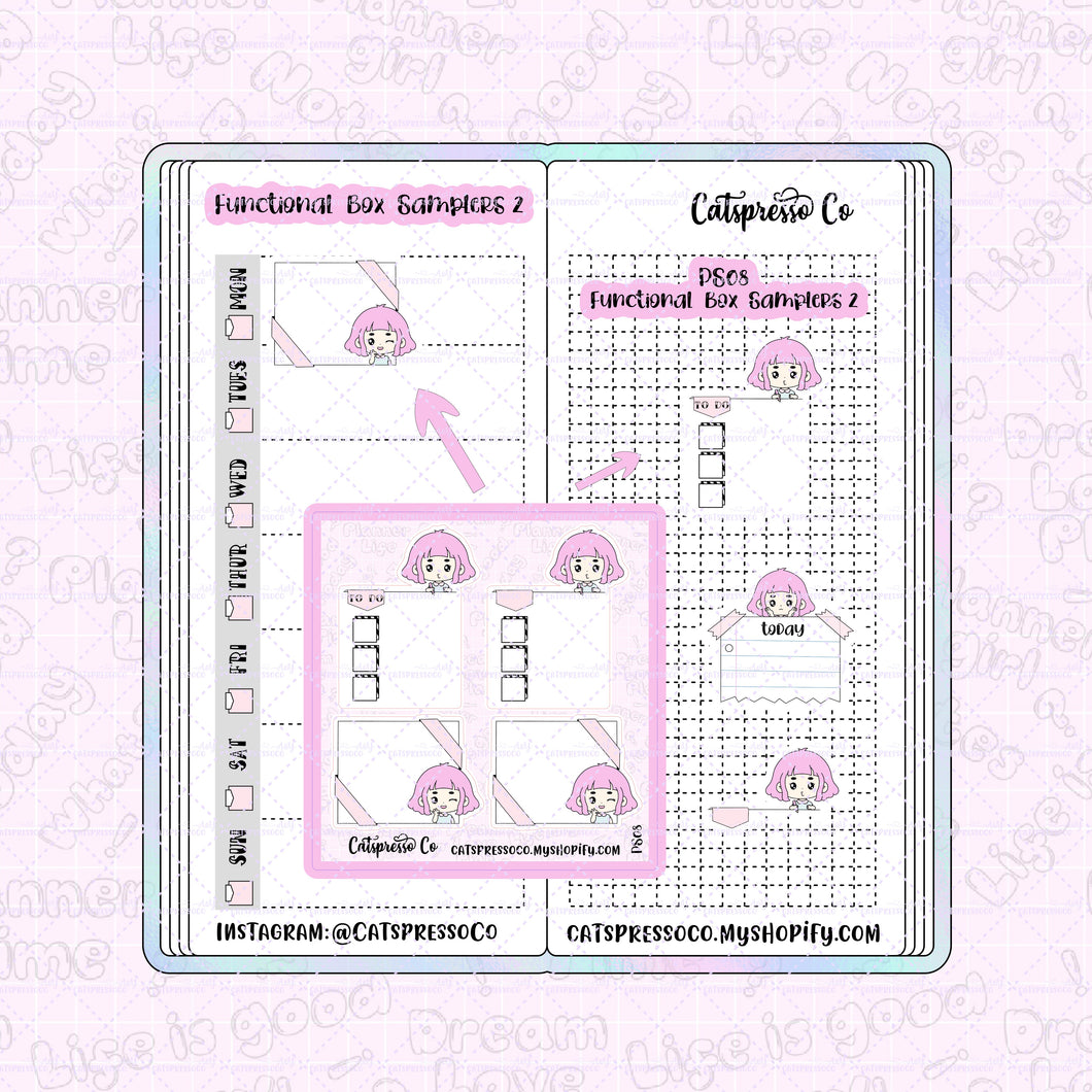 PS08 - Functional Box Samplers 2 Planner Sticker