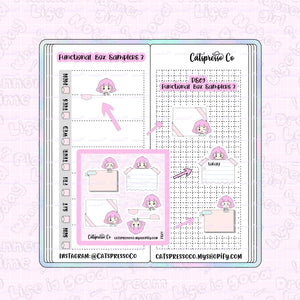 PS09 - Functional Box Samplers 3 Planner Sticker