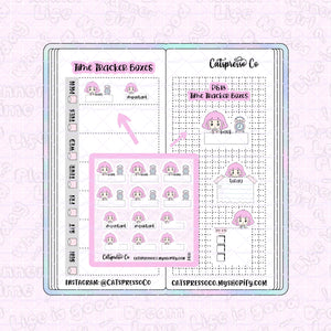 PS18 - Time Tracker Boxes Planner Sticker