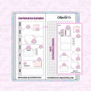 HW05 - Functional Box Samplers Planner Sticker