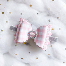 Load image into Gallery viewer, Gingham Bow Planner Accessories