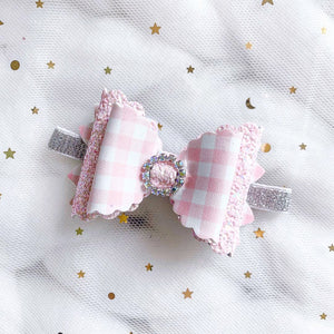 Gingham Bow Planner Accessories