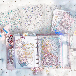 JD18 - B6 Rings (Kikki K) - Star Glitter Dashboard with Zipper