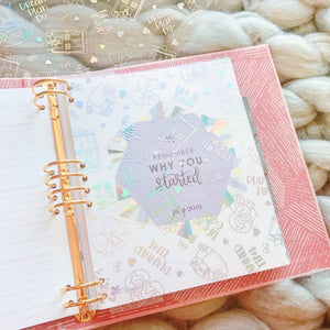 A11 - Holo Foiled Planner Life Acetate - Whole sheet - A4