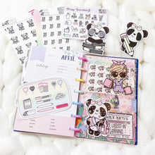 Load image into Gallery viewer, JD56 - Mini Happy Planner - Blush Pink Star Jelly dashboards with two scalloped pockets