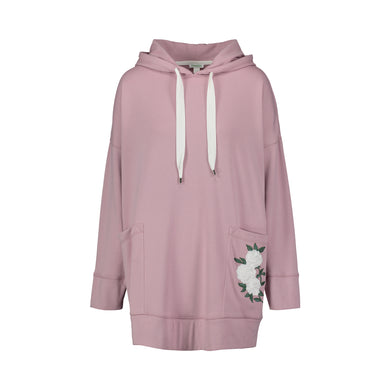 Ivory Rose Hoodie Dress