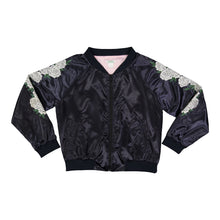 Load image into Gallery viewer, Ivory Rose Reversible Bomber Jacket
