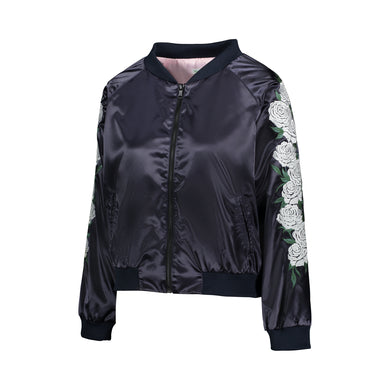 Ivory Rose Reversible Bomber Jacket