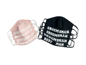 Maid of Honor & Bridesmaid Face Masks