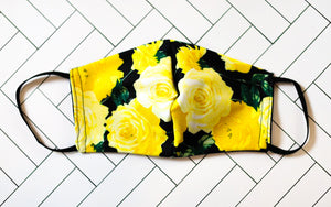 Yellow Rose Face Mask