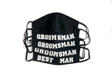 Best Man & Groomsmen Face Masks