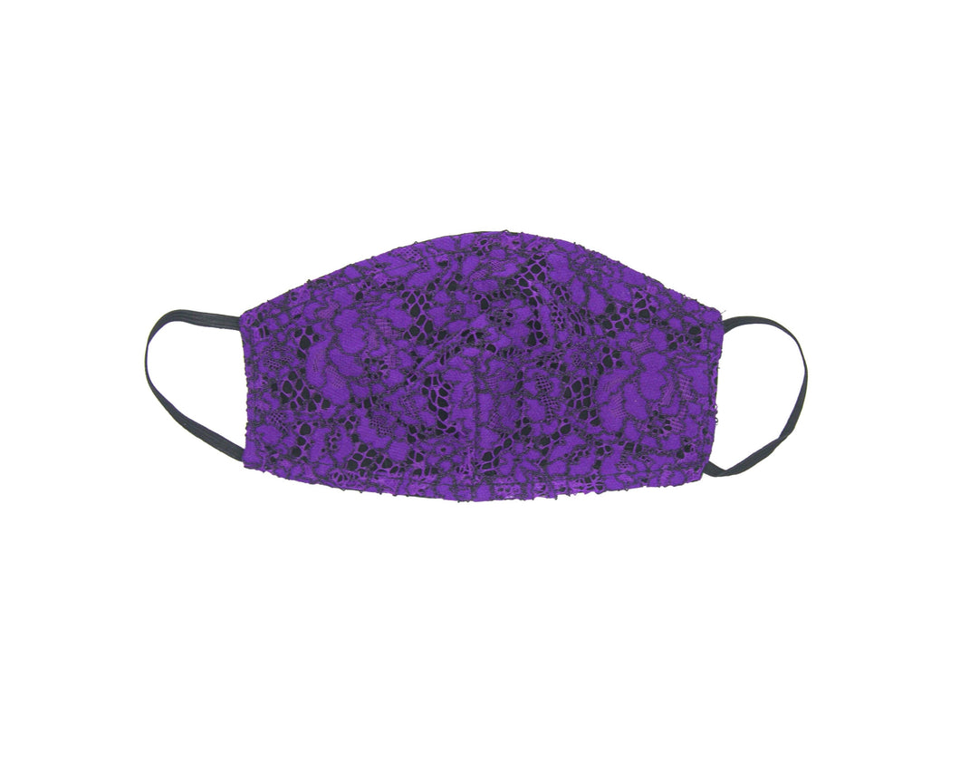 Lace Violet Face Mask