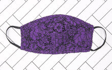 Load image into Gallery viewer, Lace Violet Face Mask