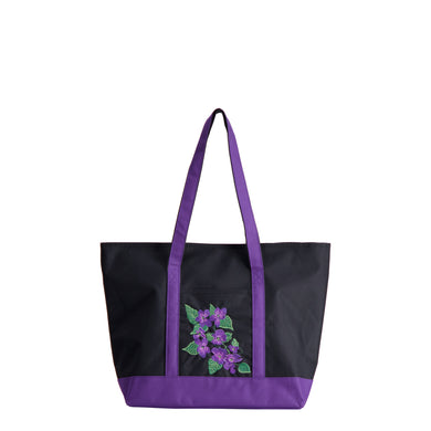 Violet Embroidered La La Tote