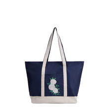 Load image into Gallery viewer, Ivory Rose Embroidered La La Tote