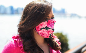 Pink Rose Face Mask