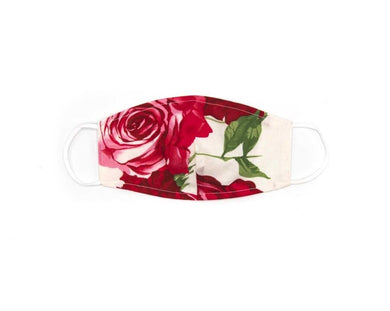 Red Rose Face Mask (White Background)