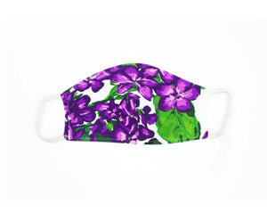 White Violet Face Mask