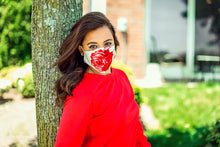 Load image into Gallery viewer, Red Rose Face Mask (White Background)