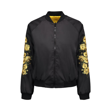 Yellow Pansy Bomber Jacket