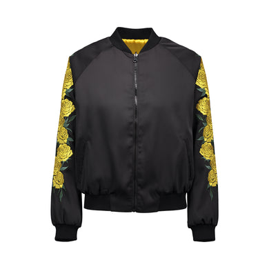 Yellow Rose Bomber Jacket