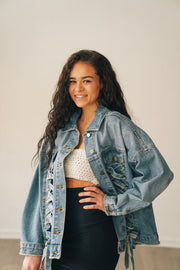 Knotted Denim Jacket