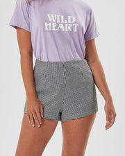 Houndstooth Splice Short