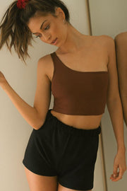Single Strap Crop Oxblood