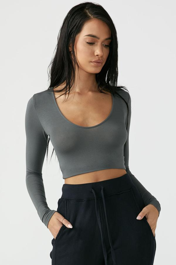 Scoop Neck Slate