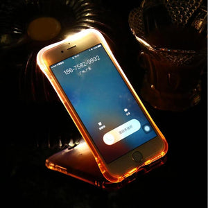LED Flash Light Phone Case +  Micro USB Fan For iPhone & Android
