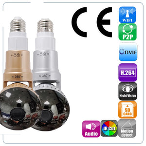 New Wifi Light Bulb Spy Camera 360 Night Vision for your Home Security
