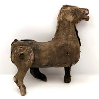 Fantastic Antique Wood and Cloth Punch and Judy Horse Marionette