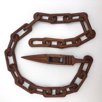 Beautifully Carved 30 Inch Wooden Whimsy Chain