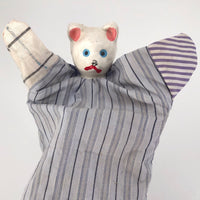 Japanese Papier Mache and Cloth Vintage Cat Hand Puppet