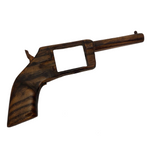 Carved Wooden Gun with Working Hammer