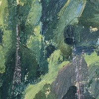 Chaloi Leonty, Painterly 1976 Oil on Cardboard Trees and Water Russian Landscape