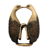 Japanese Netsuke with Pair of Perched Birds