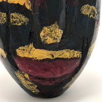 Carved and Expressionistically Painted Wooden Head